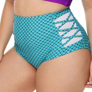 Bottoms only High-rise Fish Scale Swim Briefs